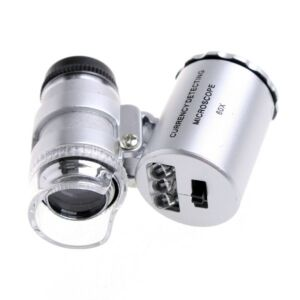 60X Mini Lommemikroskop m. UV-lys