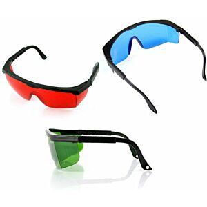 Laser Briller - Rød/Grøn/Blå m. etui