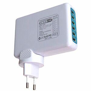 6-ports USB Lader 35W