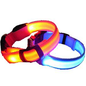 LED Hundehalsbånd, 4 farver, Large