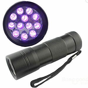 12 LED UV lommelygte