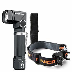 NICRON N7 Lommelygte/Pandelampe 600 lm