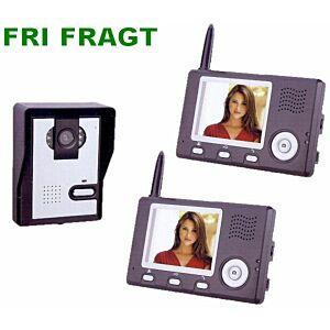 "Video Dørtelefon 3.5"", trådløs, 1:2"