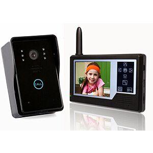 "Video Dørtelefon 3.5"", trådløs - NYHED"