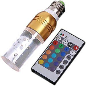 LED-pære, 16 farver, fjernbetjent