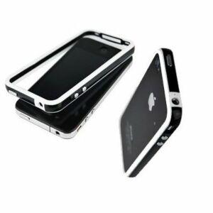 iPhone 4 Bumper, Hvid/Sort