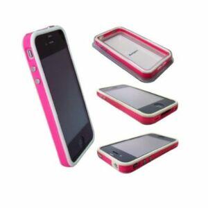 iPhone 4 Bumper, Hvid/Pink