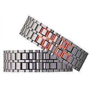 LED ur, Sølv/Rød