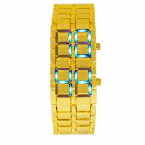 LED ur, Gyldent/Blå