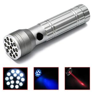15 LED Ultraviolet laser-lommelygte