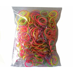 Loom Bands Mix Glow, 600stk