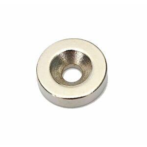 Neodymium Skivemagnet, Ø10x3mm m. 3mm hul