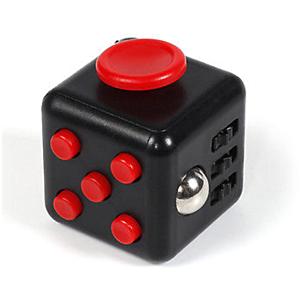 Fidget Cube - Sort/Rød