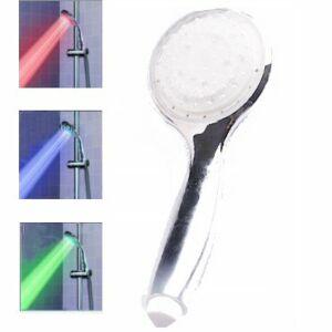 3 Color LED Shower Head